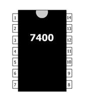 f.10.2 Logický clen NAND TTL realizovaný v intergrovanej forme 7400