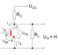 f.10.1 Tranzistorový spínac - Invertor